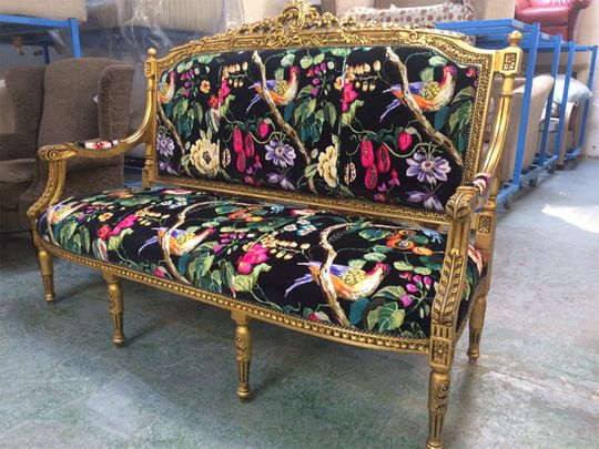 A chair we Re-Upholstered