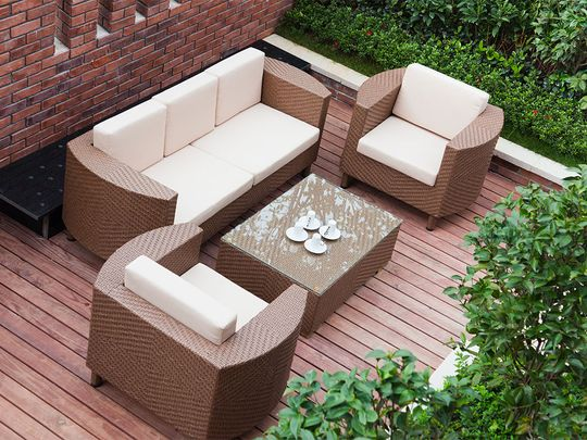 An example of our wicker furniture.